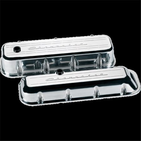 Billet Specialties 96123 Big Block Chevy Valve Covers with Chevy Logo Tall - image 1 de 1