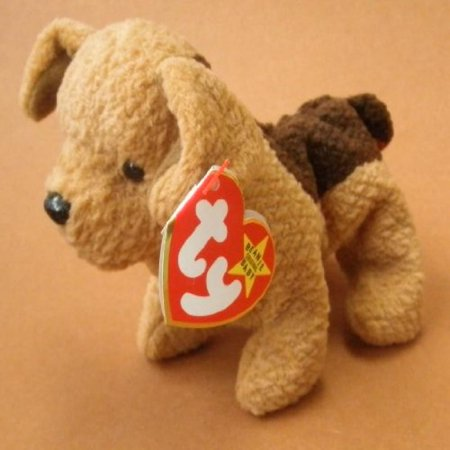 TY Beanie Babies Tuffy the Terrier Dog Plush Toy Stuffed Animal