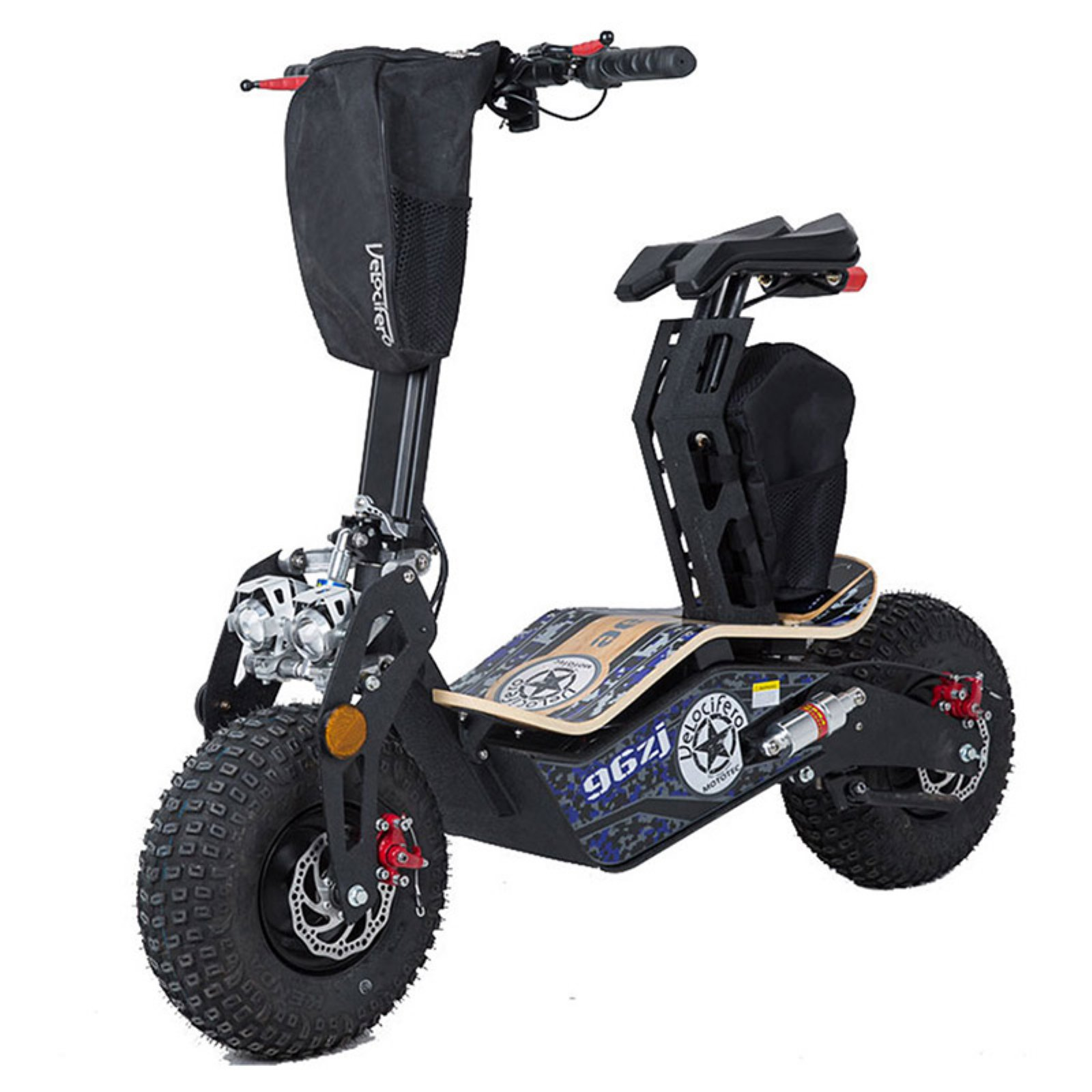 MotoTec Mad 1600w 48v Electric Scooter by Overstock
