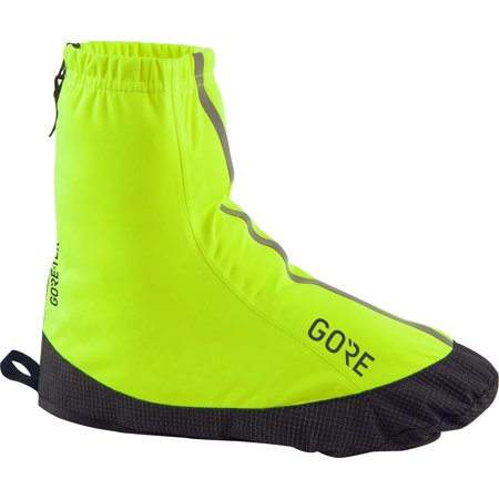 GORE Wear Waterproof Lightweight Cycling Overshoes, GORE Wear C3 GORE Wear -TEX Light Overshoes, Size: 48-50, Color: neon yellow, 100225 Size