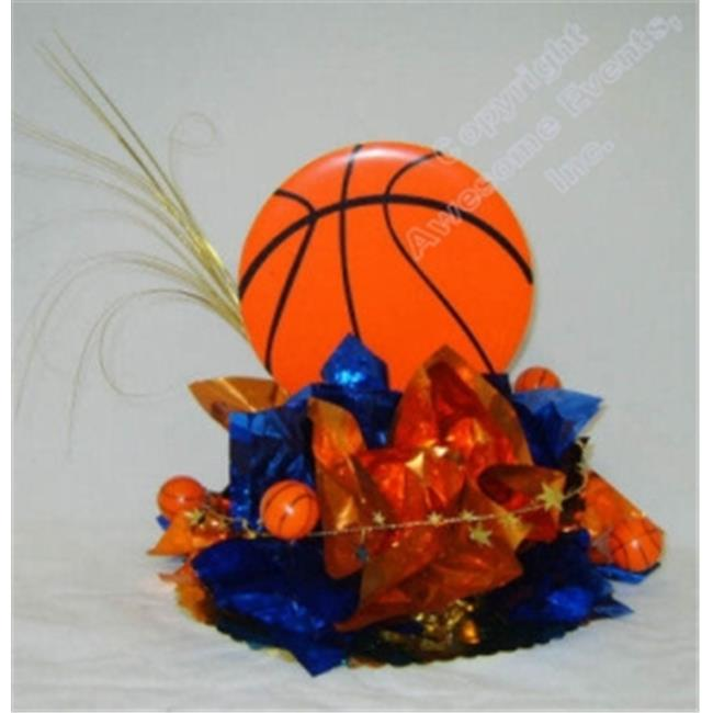 Awesome Events BSK10E Basketball Have A Ball Centerpiece, 2 Pack