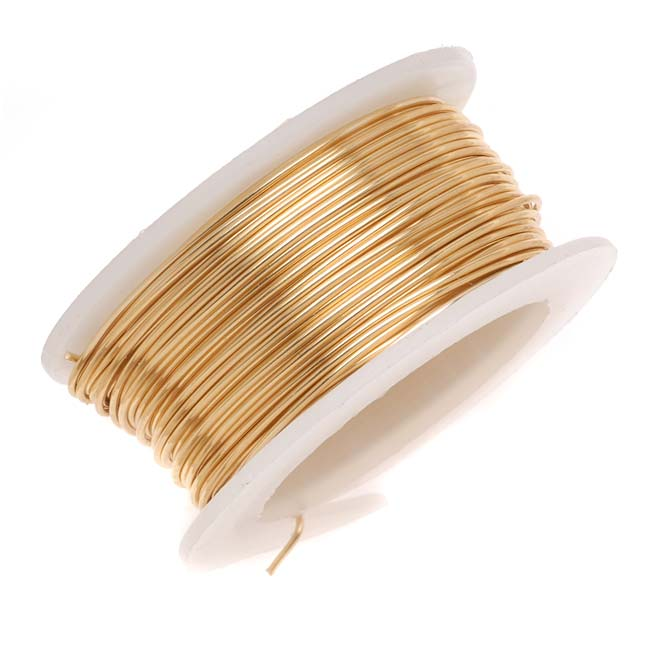 Artistic Wire, Copper Craft Wire 18 Gauge Thick, 4 Yard Spool, Tarnish Resistant Brass