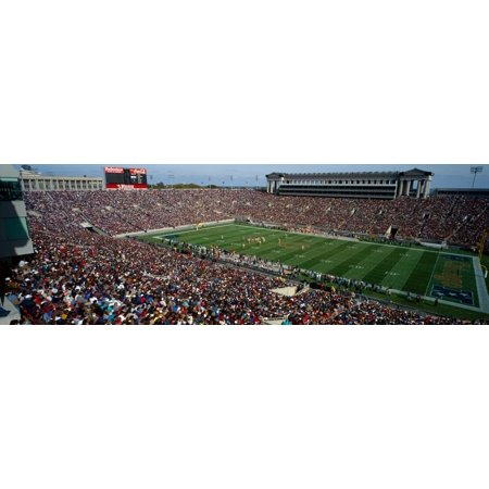 High angle view of a football stadium Soldier Field Chicago Illinois USA Poster Print by Panoramic