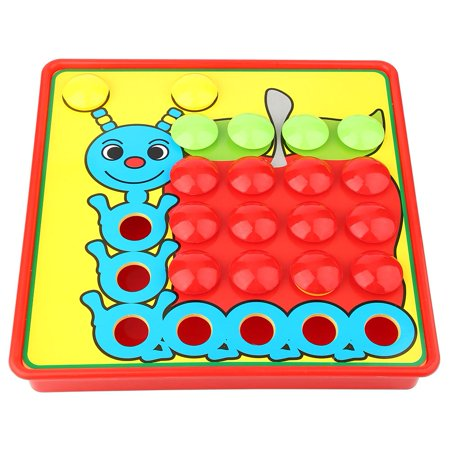 HURRISE Colorful Mushroom Nails Board Game, Kids Learning ...