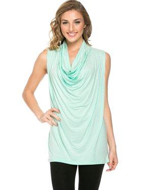 4caf3ba7fcc Sassy Apparel Womens Soft Comfortable Sleeveless Drape