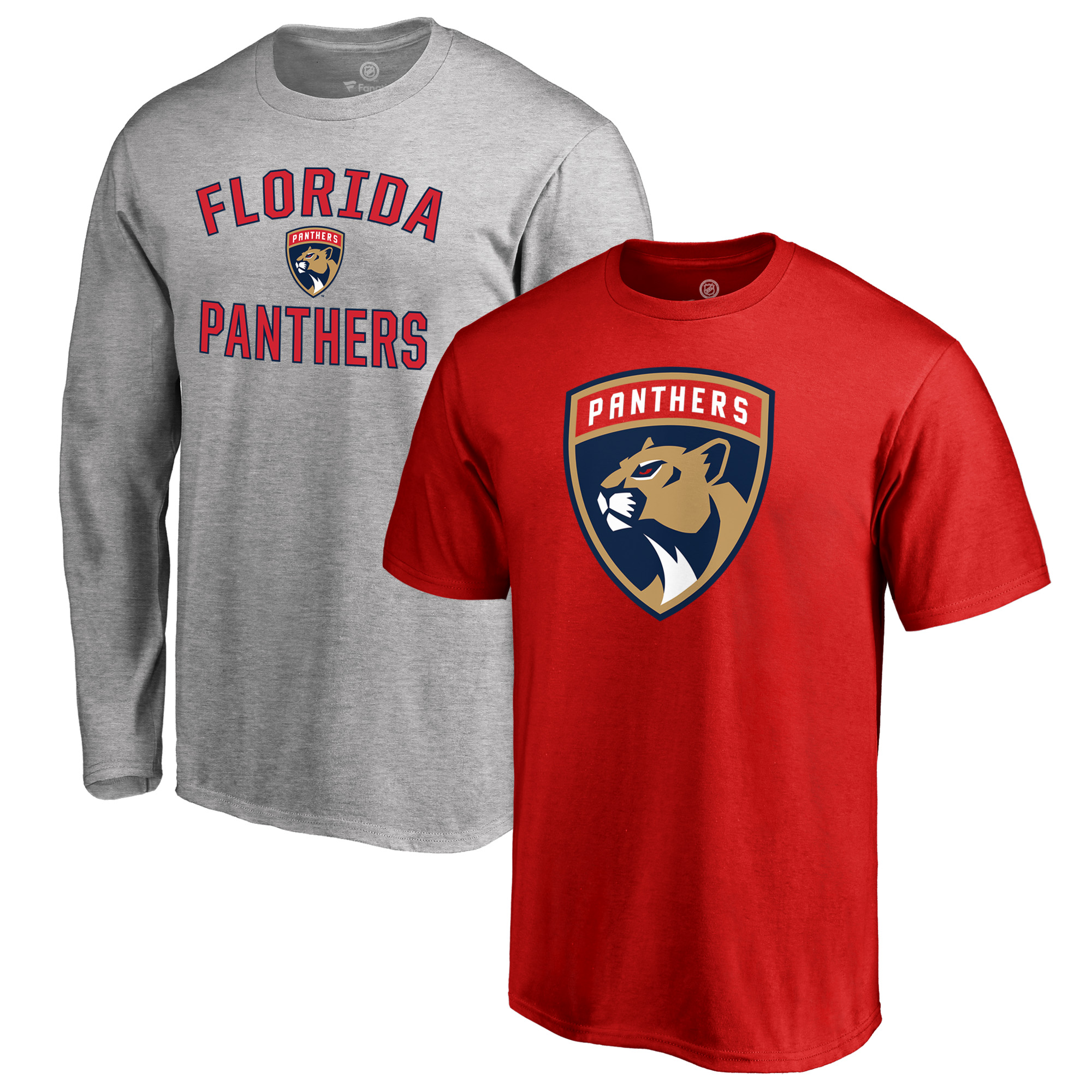 Florida Panthers Fanatics Branded Big & Tall T-Shirt Combo Set - Red/Heathered Gray