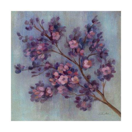 Twilight Cherry Blossoms II Print Wall Art ()