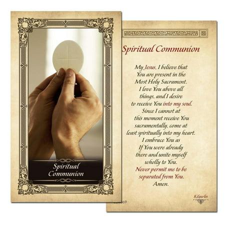 Spiritual Communion Prayer Card - Pack of 25