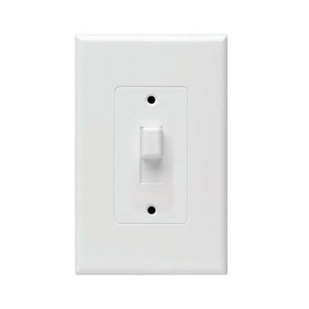 Hubbell Taymac - 2670W Masque Revive 1 Gang Toggle Cover Up Wall Plate - White
