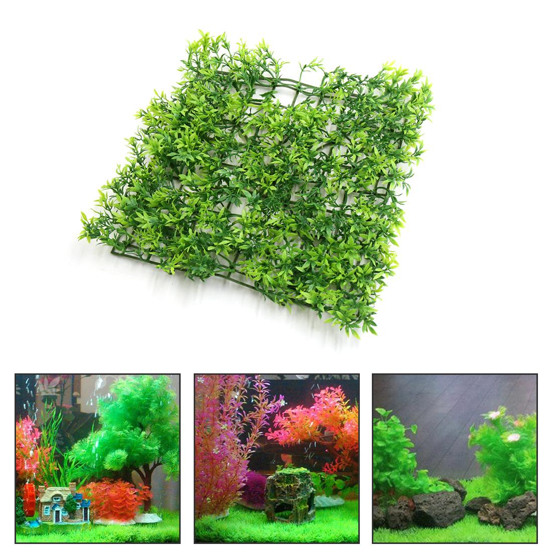 Plastic Grassland Lawn Aquarium Fish Tank Aquascape Decor Ornament - image 1 of 3