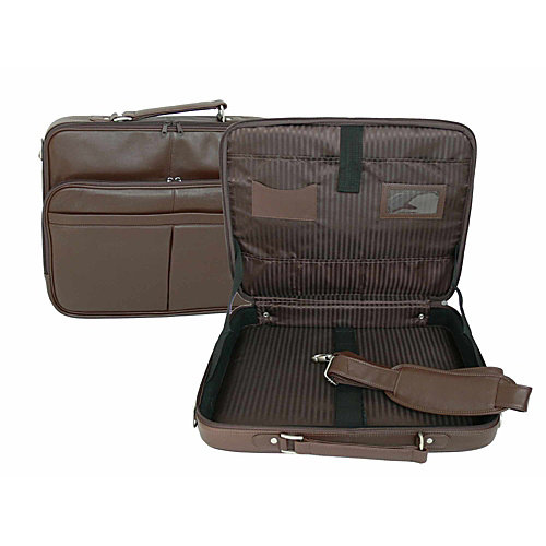 """Royce Leather 17"""" Laptop Briefcase"""