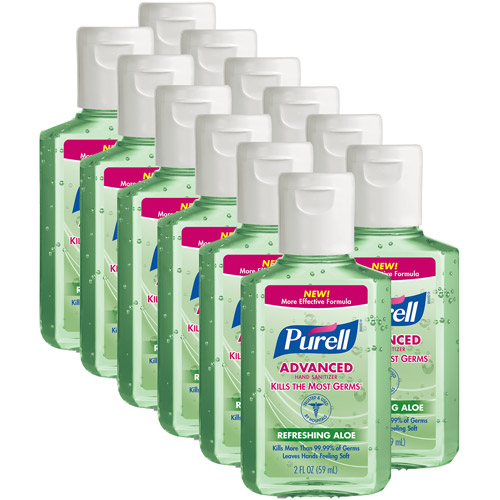 PURELL Advanced Refreshing Aloe Hand Sanitizer, 2 fl oz, Pack of 12