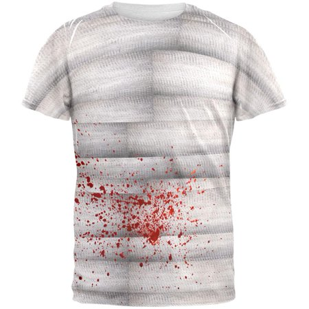 Halloween Bloody Mummy All Over Adult T-Shirt - Halloween Mummy Art