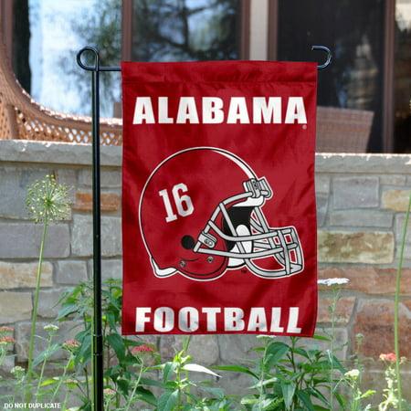 "Alabama Crimson Tide 16 Championships Helmet 13"" x 18"" College Garden Flag"