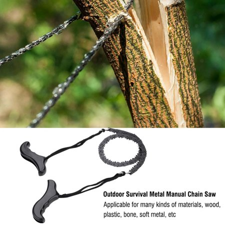 Fugacal Chain Saw Survival SawPortable Lightweight Metal Manual Chain