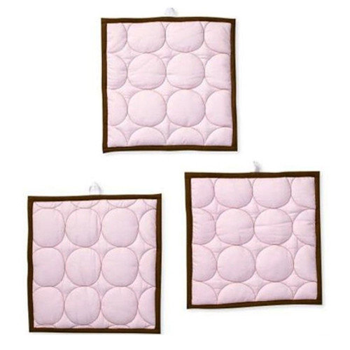Bacati Quilted Circles Hanging Art (Set of 3)