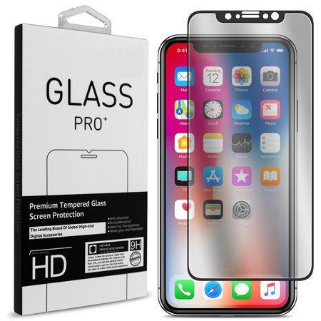CoverON Apple iPhone XS / iPhone X Tempered Glass Screen Protector - InvisiGuard Series Full Coverage 9H with Faceplate (Case (Faceplate 6 Series)