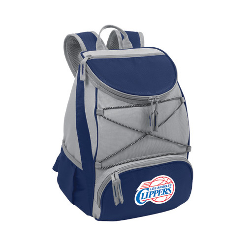 "Picnic Time PTX Cooler Backpack Los Angeles Clippers Print  11"" x 7"" x 12.5"""