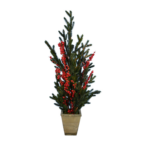 Charlton Home Pine Tree in Berry Pot