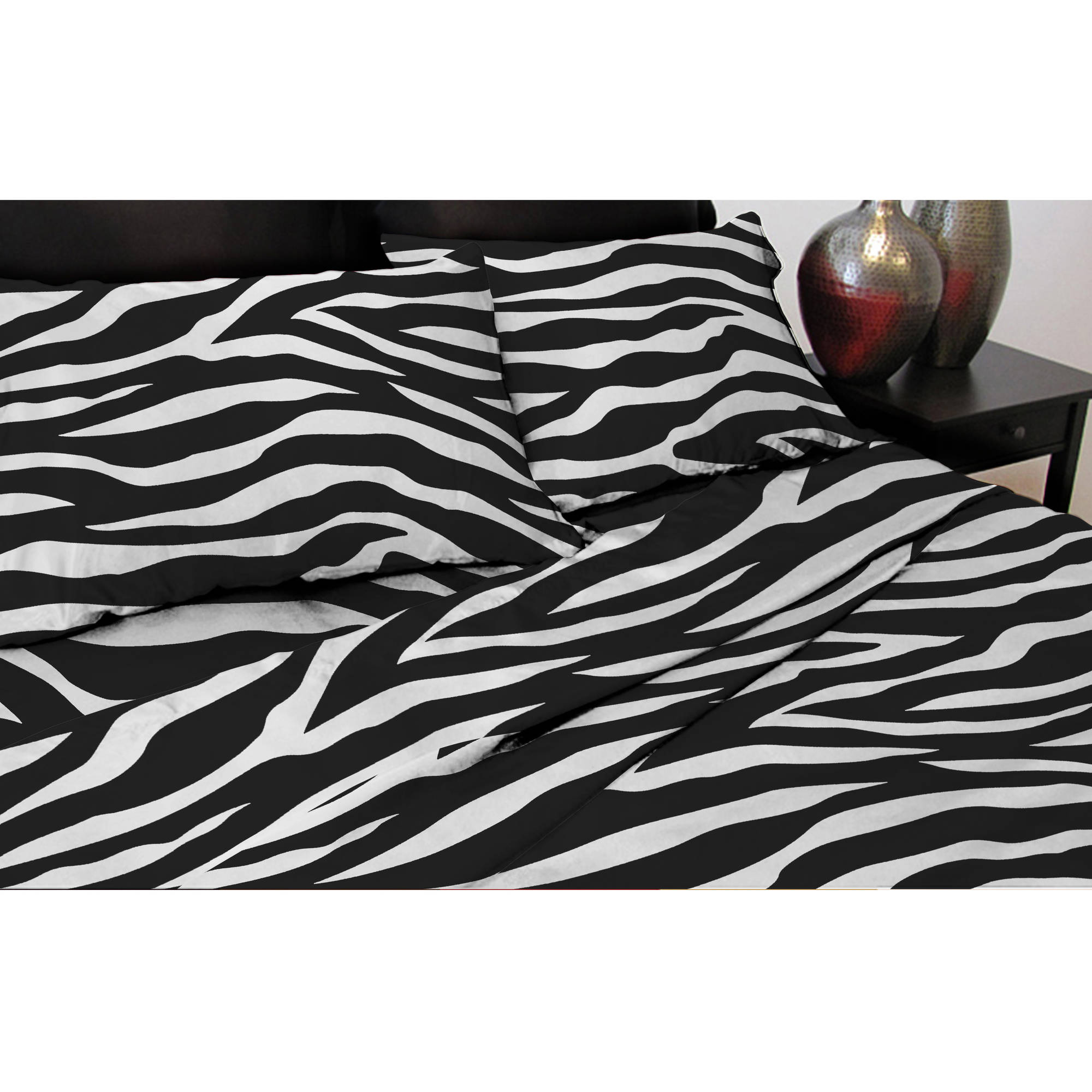 Pur Luxe Microban Antimicrobial Satin Sheet Set