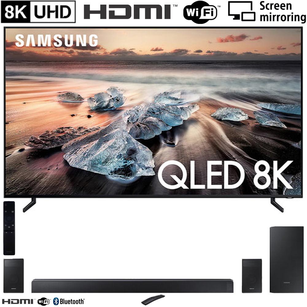 """Samsung QN75Q900RB 75"""" Q900 QLED Smart 8K UHD TV (2019 Model) with Samsung HW-N950 7.1.4-Channel Basic Soundbar"""