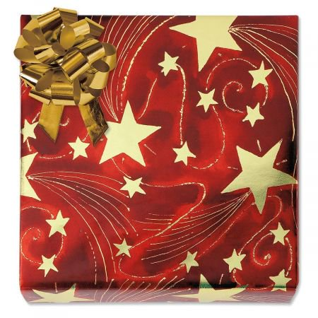 - Golden Starlight Foil Rolled Gift Wrap - 38 sq. ft. metallic wrap