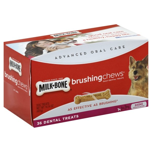Milk-Bone Mini Brushing Chews Daily Dental Treats, 14.14-Ounce