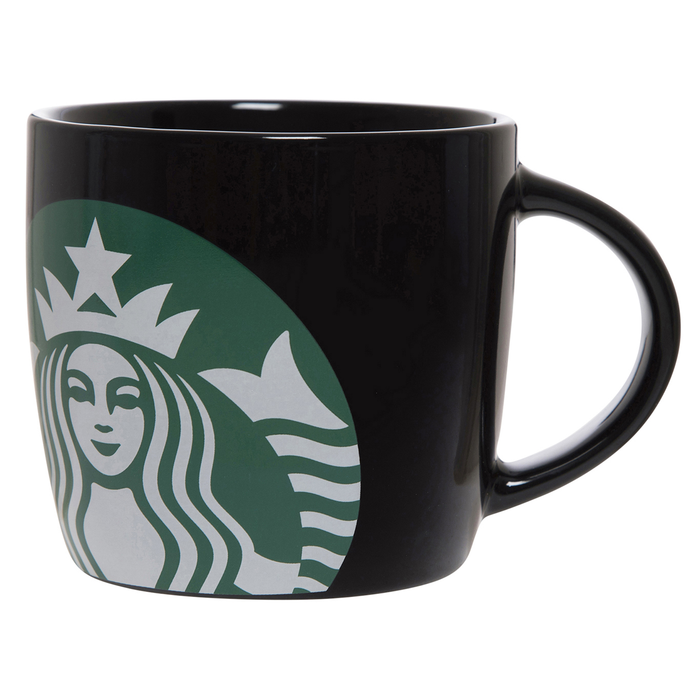 Starbucks 14 Ounce Ceramic Black Mug