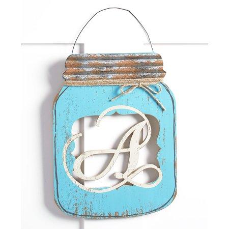 Monogram Door Hangers (Mason Jar Door Hangers (A))
