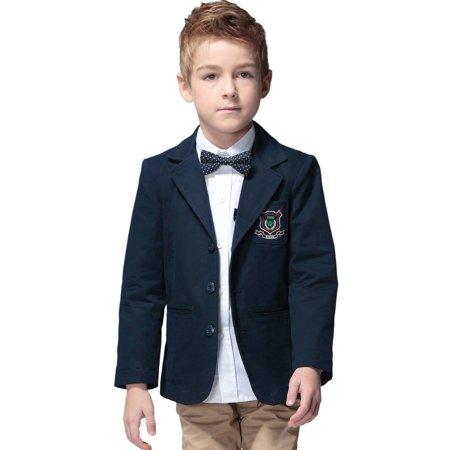 Leo&Lily Boys' Kids 100% Cotton Blazers Jackets Coats With Lining
