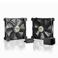 AC Infinity MULTIFAN S7-P, Quiet Dual 120mm AC-Powered Fan with Speed Control, for Receiver DVR Playstation Xbox Component Cooling