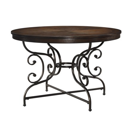 15 45 round dining room table with tubular metal frames round table