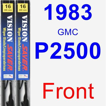1983 GMC P2500 Wiper Blade Set/Kit (Front) (2 Blades) - Vision Saver