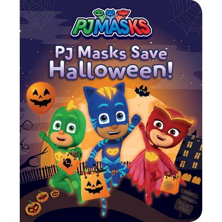 PJ Masks Save Halloween! - (Halloween Light Show Five Nights At Freddy's)