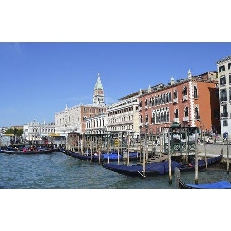 Canvas Print Channels Venice Sea City Italy Gondolas Channel Stretched Canvas 10 x 14 (Italian Gondola Driver)