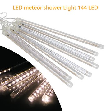 LED Meteor Shower Lights 12 Inch 8 Tube 144 Leds Falling Rain Drop Icicle Snow Fall String LED Waterproof Lights for Holiday Xmas Tree Valentine Wedding Party Decoration - Valentine Decoration For Classroom