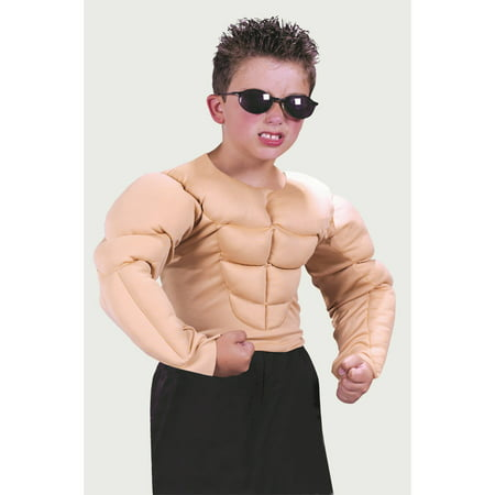 Muscle Shirt Child Halloween Costume](Halloween Fun With Kids)