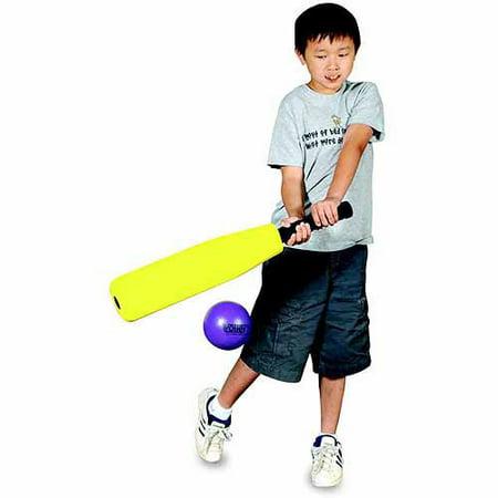 Sportime Foam Round-N-Flat Baseball Bat with 18 Inch Barrel, 26 Inches Long (Foam Baseball Bat)