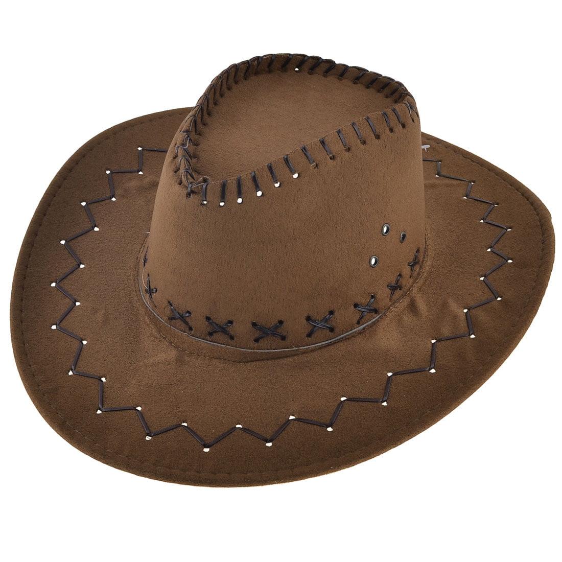 Unique Bargains Wide Brim Faux Suede Riding Hiking Cowboy Hat ... 16befa5d37c