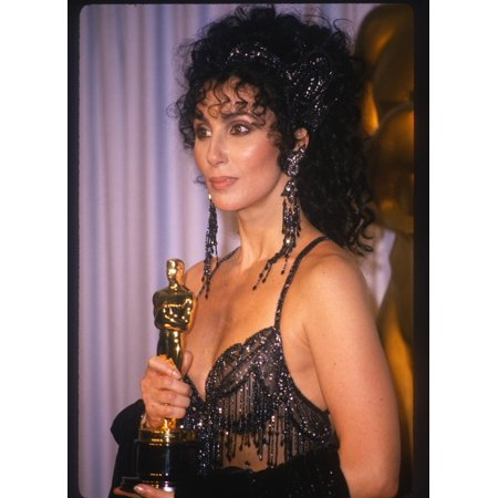 Cher In Press Room Just After Receiving Her Oscar For Best Actress In