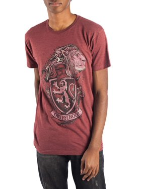 Men's Harry Potter Hogwarts Gryffindor House Crest Graphic T-shirt