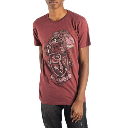 House Music T-shirts - Harry Potter Men's Gryffindor House Crest Men's Short Sleeve Graphic T-Shirt, up to Size 3XL