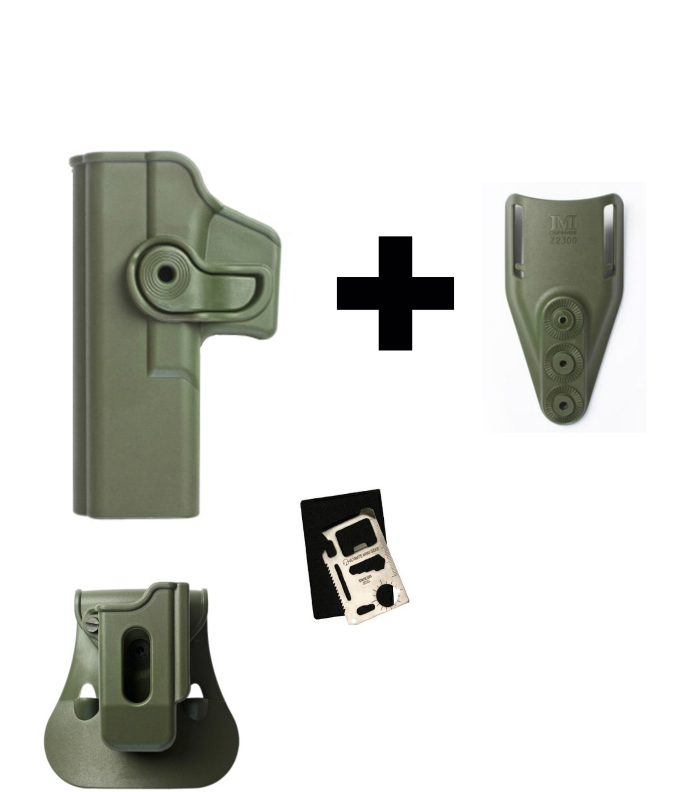IMI Defense ZSP05 Single Mag Pouch & Paddle + Z1010LH Rotate Holster Glock 17 22 28 31 34 Left Handed Gen 4 Compatible,... by