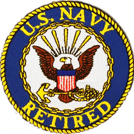 US Navy Retired Round Logo Patch
