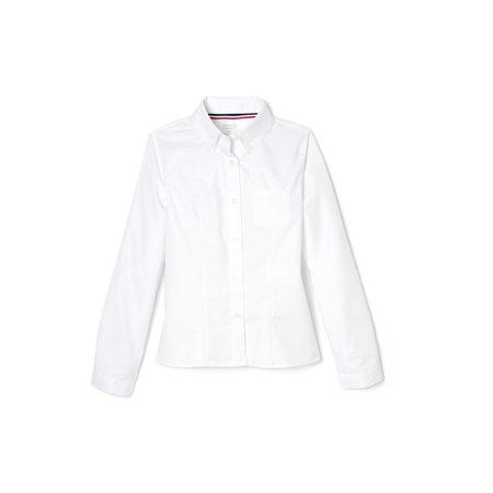 French Toast School Uniform Long Sleeve Oxford Shirt (Little Girls & Big Girls)