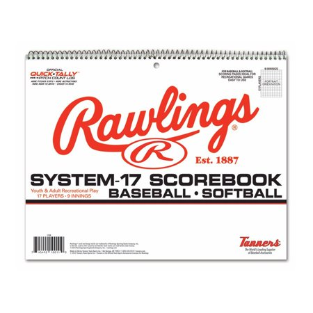 b4cd273be015 Rawlings System-17 Baseball & Softball Scorebook (9 innings, 17 players) -  Walmart.com