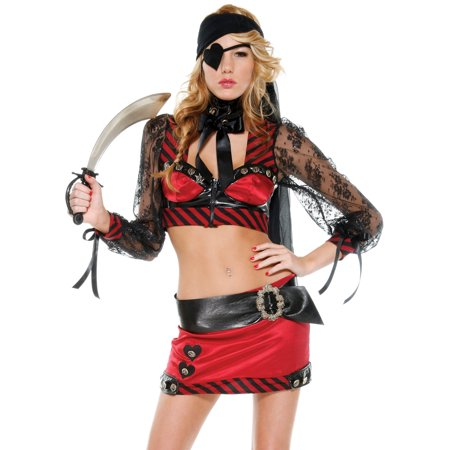 Booty Hunter Sexy Pirate Girl Swashbuckler Womens Halloween Lingerie Costume - Womens Hunter Costume