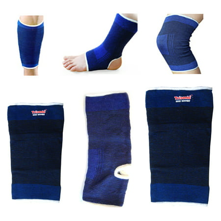1 Knee 1 Calf 1 Ankle Support Brace Tennis Football Sports Muscle Pain