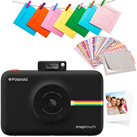 - Polaroid SNAP Touch 2.0 – 13MP Portable Instant Print Digital Photo Camera w/Built-in Touchscreen Display, Black