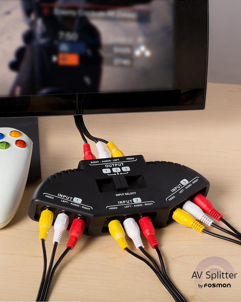 Fosmon Technology 3-Way Audio / Video RCA Switch Selector / Splitter ...
